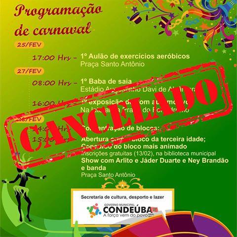 Carnaval Cancelado